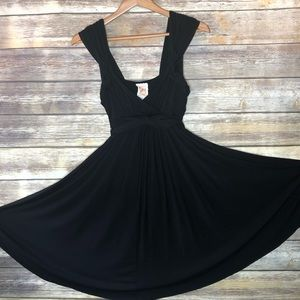 Anthro c.keer country mile black dress jersey S